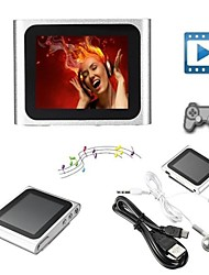 8GB Mp3 Mp4 6th Gen LCD Touch Screen FM Radio Player Slim Video Games Movie