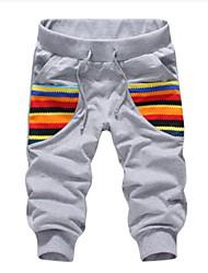 Pantaloncini - MEN - da Casual/Sport Cotone - Nero/Grigio