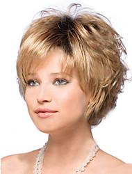 moda bonito de ouro perucas curtas europeus e americanos