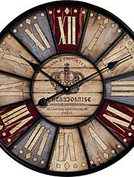 Reloj de pared - Madera - Campestre/Retro - Madera