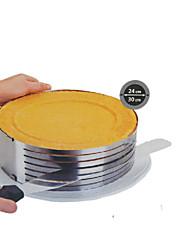 Mode Metall Kreis einstellbar Edelstahl Chiffon-Mousse Kuchen Schicht schneiden Slicer bakeware Kochen Kuchen ss-43