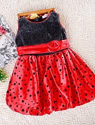 Girl's Chiffon Dress , Spring/Fall Sleeveless