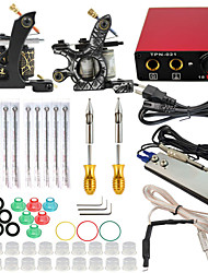 ITATOO™ Tattoo Kit 2pcs Tattoo Machines Mini Tattoo Power Supply Set with 10pcs ITATOO™ Tattoo Needles Steel Tattoo Tips