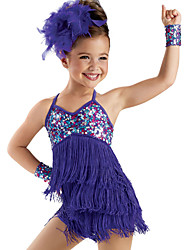 Latin Dance Dancewear Adults' Children's Sequin Latin Dress