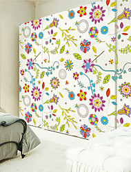 Wall Stickers Wall Decals , Flower Pattern PVC Wall Stickers