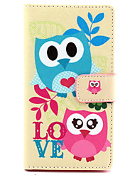 For Nokia Case Wallet / Card Holder / with Stand Case Full Body Case Owl Hard PU Leather NokiaNokia Lumia 830 / Nokia Lumia 640 / Nokia