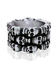 Men's Skeleton Titanium Ring