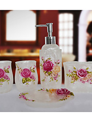 The Love Rose Bathroom Ware 5 Sets/White