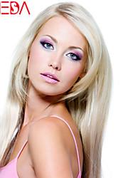 vrouwen kant voor pruik Braziliaanse maagdelijke haar kleur (blond) steil haar