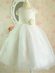 Kid's Casual/Cute/Party Dresses (Cotton Blend/Organza)