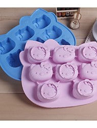 Fashion Hello Kitty Ice Chocolate Making Tools Silicone Cake Mold Candy Jelly Soap Modeling Mould (Random Color)