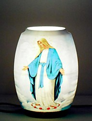 Virgin Mary Patterned Table Lamp