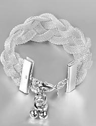 Italy 925 Silver Net Design Bracelet Hottest Fashion Indian Bangles Bracelets Cuff Bracelet