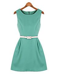 Kai liWomen's Sexy/Bodycon/Party Round Sleeveless Dresses (Cotton)