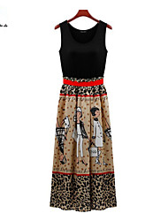 MENGFEILU®Women's Cute Cartoon Printed Tunic Maxi Dresses