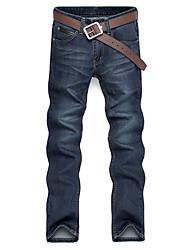 Men's Solid Casual Jeans,Denim Blue