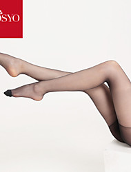 Hosyo Women's 13D Sexy Velvet Seamless Ultrathin Sheer Moisturizing Skin Callipyge Silk Pantyhose