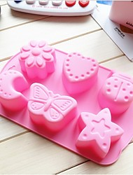 Fashiom Silicone Cake Decorating Bakeware Mold Soap Chocolate Kitchen Cooking Tools Food Dessert Making(Random Color)