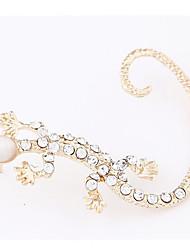 Women's European Style Fashion Gecko Alloy Stud Earrings With Rhinestone