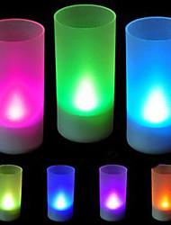 Multi-color Romantic Candle Pattern Night Light