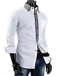 Succinct Men's Casual Shirt Collar Long Sleeve Casual Shirts