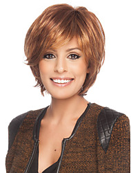 High Quality Capless Short Curly Mono Top Human Hair Wigs 9 Colors to Choose
