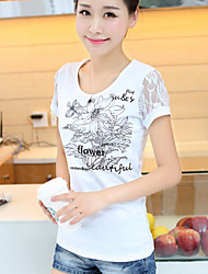 Women's Summer Basic Short Sleeve Casual Slim T-shirt