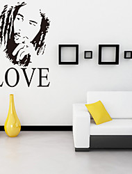 Wall Stickers Wall Decals, Style Bob Marley One Love English Words & Quotes PVC Wall Stickers