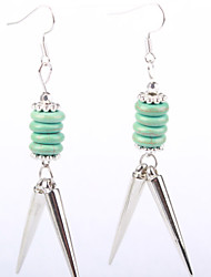 Ancient Folk Style Alloy Turquoise Earrings