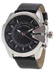 Masculino Relógio de Moda Quartz Couro Banda marca- JUBAOLI