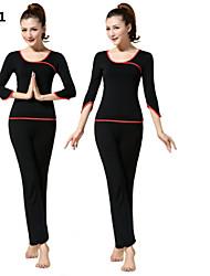 traje ropa de yoga 2015 primavera ropa nueva de manga larga vestido de baile de la aptitud de las mujeres aún más auténtico + 10.113-2014