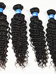 "4 Pcs Lot 10""-28"" Brazilian Hair Bundles Hair Human Real Hair Extensions Sexy Deep Wave Unprocessed Virgin Hair"