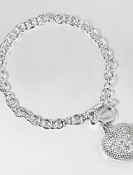 Italy 925 Silver Fashion Key and Heart Design Bracelet Charm Bracelets Anchor Bracelet Hottest Fashion
