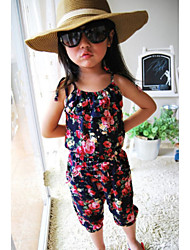 Kid's Casual/Cute Dresses (Cotton Blend)
