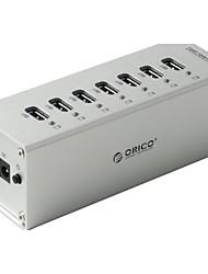 Orico a3h7-bk hoher Geschwindigkeit 7-Port USB 3.0-Hub w / LED-Anzeige - schwarz