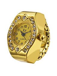 acier créatif dame fashion girl de fleurs rondes quartz élastique montre de bague en diamant femmes
