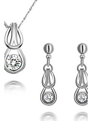 Silver Plated Women's Jewelry Sets