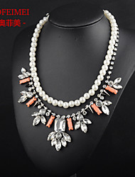 Europe and America pearl pendant chain starting new winter sweater chain necklace clavicle clover