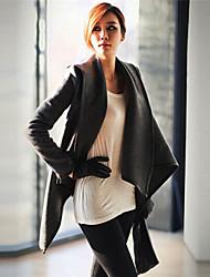 mais novo casaco de lã de manga longa