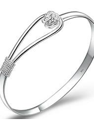 kiki plata 925 pulsera flor romántica