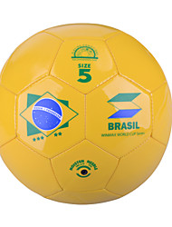 "Winmax® Outdoor PVC Yellow ""Brazil"" Pattern 5# Training Football\Soccer"