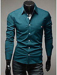The European and American fashion luxury ribbon is tie-in Men's long sleeve shirt