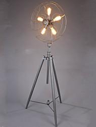 220V Floor Lamp Industiral/Retro/Novelty/Lodge/Living Room/Study Room/Coffe Bar/Metal+Black Painting