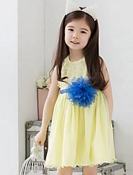 Girl's Summer Thin Sleeveless Dresses (Chiffon/Cotton)