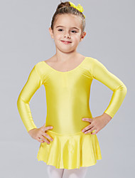 Ballet Dresses&Skirts/Tutus & Skirts/Dresses Children's Performance/Training Spandex 1 Piece Fuchsia/Light Blue/Yellow Kids Dance Costumes