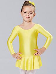 Vestidos e Saias/Tutos e Saias/Vestidos (Fúcsia/Azul Claro/Amarelo , Elastano , Balé) - de Balé - Crianças