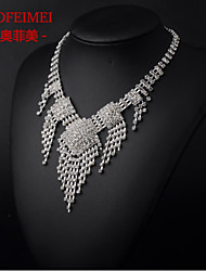 Bridal Jewelry Set Korean fashion full of diamond tassel necklace bride wedding dress accessories