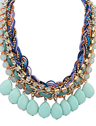 Necklace Choker Necklaces Jewelry Daily Alloy / Resin Dark Blue / Light Blue / Fuchsia / Orange 1pc Gift