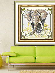 Elephant Pictures Home Painting Decor Diamond Cross Stitch Needlework Wall Home Decor 25*29cm