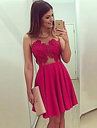 Vestidos ( Gasa )- Sexy Hombros holgados/Redondo Sin Mangas para Mujer